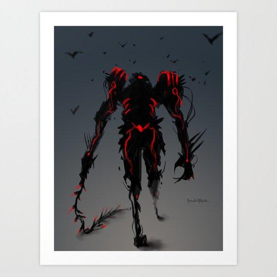 Red Clan Dominator Art Print