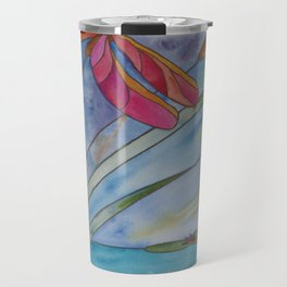 Stained Glass Dragonfly Travel Mug