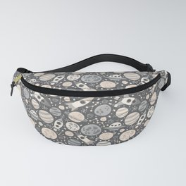 Space Black & White Fanny Pack