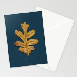 Fall Oak Leaf Painting Stationery Cards