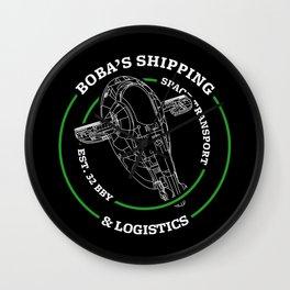 Boba's Shipping & Logistics Wall Clock