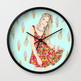 Sweet Faye Wall Clock