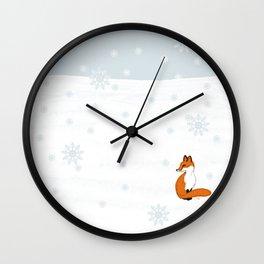 Lone Fox Wall Clock