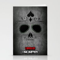 calavera Stationery Cards featuring Calavera by UrsusUnlimited