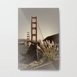 Golden Gate Bridge | Vintage Metal Print