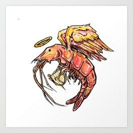 Harpe Crustaceam Art Print