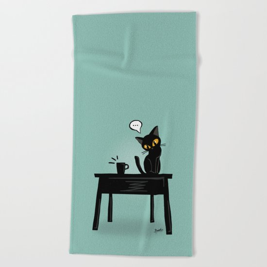 Drop it down Beach Towel