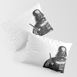 Darth Vader Black & White Photograph Pillow Sham
