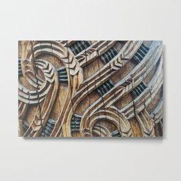 A Maori Carving Metal Print