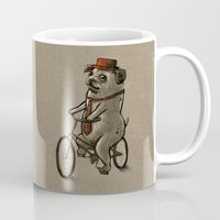 dogs Mugs featuring Dogs by Ronan Lynam