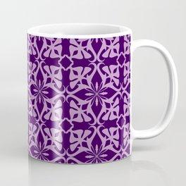 Ethnic tile pattern purple Coffee Mug