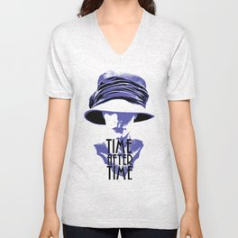 Time After Time Bleu Unisex V-Neck