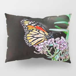 Monarchs Milkweed | oil painting Pillow Sham