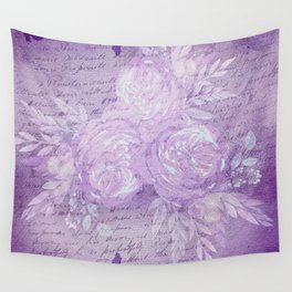Pressed Violet and Purple Flowers Wall Tapestry