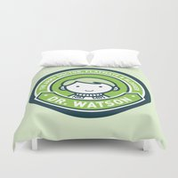 john green Duvet Covers featuring Cute John Watson - Green by mydeardear