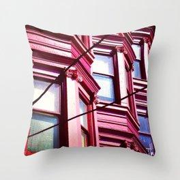 Day Nineteen: Bay Windows Throw Pillow