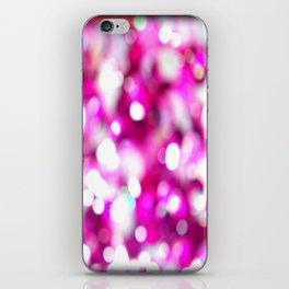 Pink Magenta White Macro Blur Glitter Sequins Closeup  iPhone Skin
