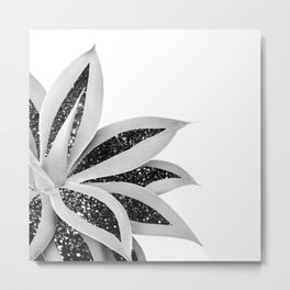 Agave Finesse Glitter Glam #5 #tropical #decor #art #society6 Metal Print