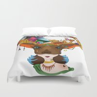 elk Duvet Covers featuring Elk by aileencopyright