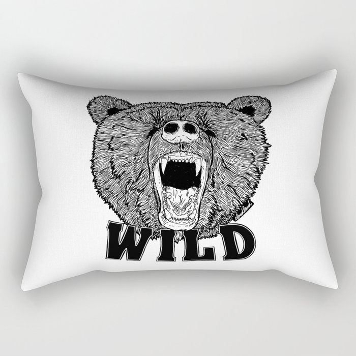 Bear Wild Rectangular Pillow