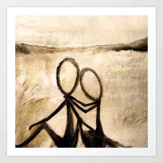 Stickmen Art Print