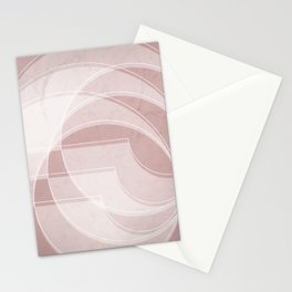 Spacial Orbiting Spiral in Shell Pink Stationery Cards