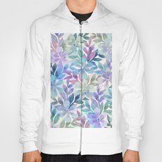 watercolor Botanical garden Hoody
