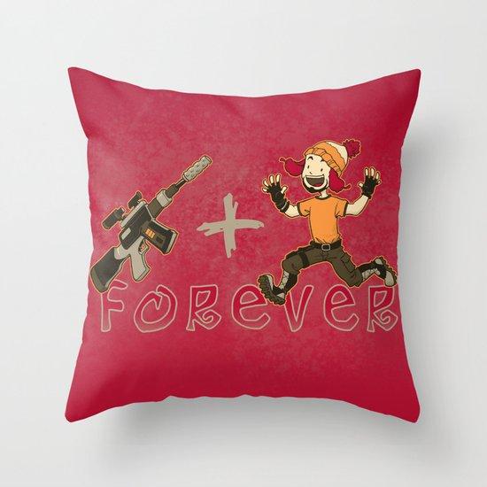 Jayne + Vera 4 Ever Throw Pillow