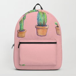 evolution cactus to pineapple pink version Backpack