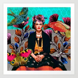 Frida´s secret smile Art Print