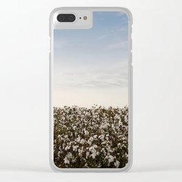 Cotton Field 2 Clear iPhone Case