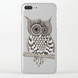 Rupert Owl Clear iPhone Case