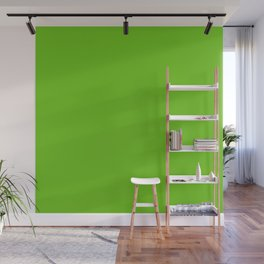 Simple Solid Color Alien Green All Over Print Wall Mural