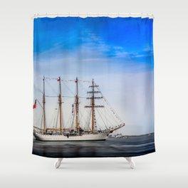 Sail Boston - Chilean Esmeralda. Shower Curtain