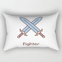 Cute Dungeons and Dragons Fighter class Rectangular Pillow