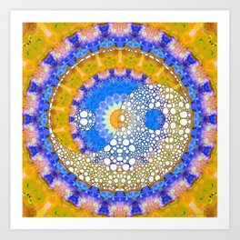 Yellow Sunshine Yin And Yang Art - Sharon Cummings Art Print