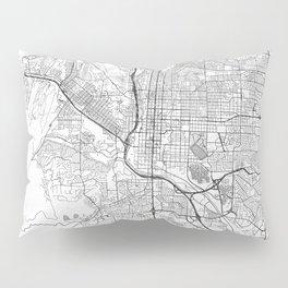 Colorado Springs Map Line Pillow Sham
