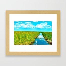 Waterway Path Framed Art Print