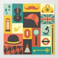 sherlock Canvas Prints featuring Sherlock by Ariel Wilson