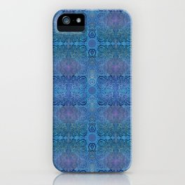 Blue Ice Weavery Temple iPhone Case