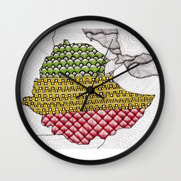 Patterns on Ethiopia Wall Clock