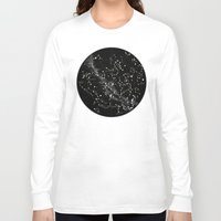 constellations Long Sleeve T-shirts featuring Constellations  by Terry Fan