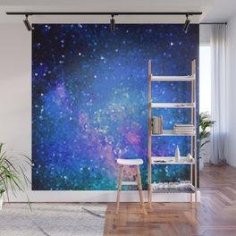 Blue Pixel Sky Wall Mural