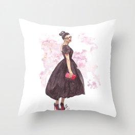 Daring Debutante Throw Pillow