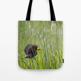 Moving Through Grass Tote Bag
