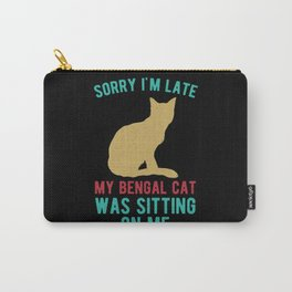 Funny Bengal Cat Carry-All Pouch