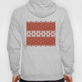 """Dark Coral (Pattern) Tribal"" Hoody"