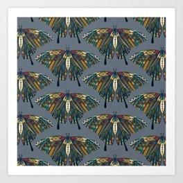 swallowtail butterfly indigo Art Print