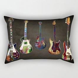 Sounds of music. Guitars. Rectangular Pillow