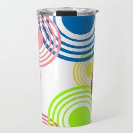 Circles of color Travel Mug